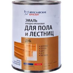 Эмаль для пола и лестниц алкидно-уретановая Ярославские краски дуб 0.9 кг