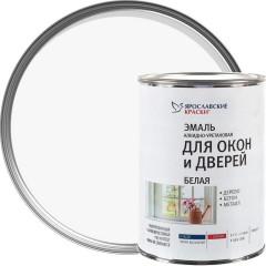 Эмаль для окон и дверей алкидно-уретановая Ярославские краски белая 0.9 кг