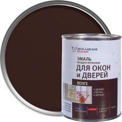 Эмаль для окон и дверей алкидно-уретановая Ярославские краски венге 0.9 кг