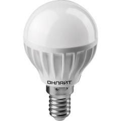 Лампа светодиодная Онлайт шар матовый E14 8W 230V 2700K OLL-G45-8-230-2.7K-E14