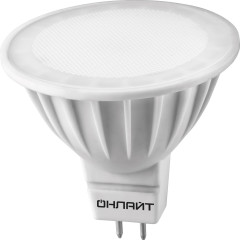 Лампа светодиодная Онлайт рефлектор матовый GU5.3 10W 230V 4000K OLL-MR16-10-230-4K-GU5.3