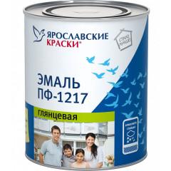 Эмаль ПФ-1217 глянцевая универсальная Ярославские краски белая 0.9 кг