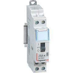 Модульный контактор Legrand 412501 CX 25А 2НО 230В 1 модуль с рукояткой управления