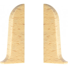 Заглушка левая и правая T-plast 58 мм бук светлый 001, 2 шт.