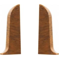 Заглушка левая и правая T-plast 58 мм орех кофейный 022, 2 шт.