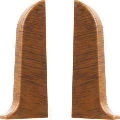 Заглушка левая и правая T-plast 58 мм орех антик 026, 2 шт.