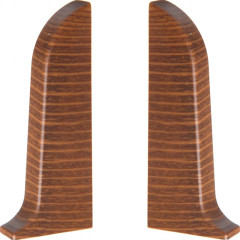 Заглушка левая и правая T-plast 58 мм сосна корабельная 029, 2 шт.