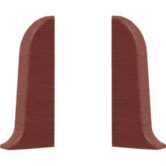 Заглушка левая и правая T-plast 58 мм махагон 032, 2 шт.