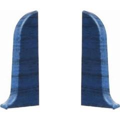Заглушка левая и правая T-plast 58 мм ольха синяя 035, 2 шт.