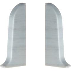 Заглушка левая и правая T-plast 58 мм сосна серая 036, 2 шт.