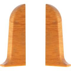 Заглушка левая и правая T-plast 58 мм самшит медовый 055, 2 шт.