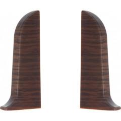 Заглушка левая и правая T-plast 58 мм венге кофейный 065, 2 шт.
