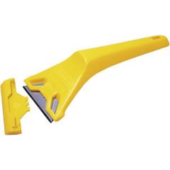Скребок для оконных стекол 11-916 пластмассовый со стандартными лезвиями для ножей Stanley 0-28-590