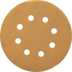 Шлифовальные круги Dewalt 8 отверстий 120G d 125 мм, 25 шт.