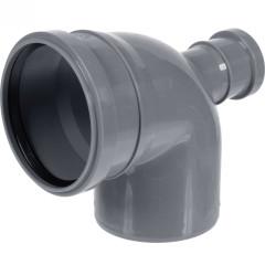 Отвод полипропиленовый Ростурпласт универсальный 110 мм с выходом 50 мм 87 градусов фронт-тыл