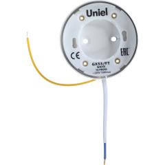 Светильник точечный накладной Uniel GX53 IP20 8.2 см белый