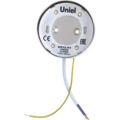 Светильник точечный накладой Uniel GX53 IP20 8.2 см Хром
