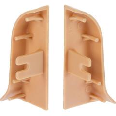 Заглушка левая и правая T-plast 47 мм орех светлый, 2 шт.