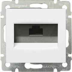 Информационная розетка Legrand Valena RJ45 категория 5e UTP 1 выход с захватами белая
