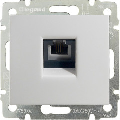 Телефонная розетка Legrand Valena RJ11 4 контакта 1 выход Белый