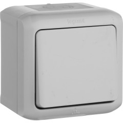 Выключатель Legrand Quteo 10 А 250 В IP 44 серый