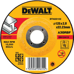 Круг отрезной по металлу Dewalt Industrial 125x22.2x2.8 мм тип 1