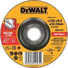 Круг обдирочный по металлу Dewalt 125х22.2х6.3 мм тип 27