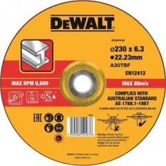 Круг обдирочный по металлу Dewalt 230х22.2х6.3 мм тип 27