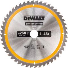 Пильный диск по дереву с гвоздями Dewalt Construction 250х30 мм 48 зубов