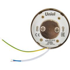 Светильник точечный накладной Uniel GX53 IP20 8.2 см никель