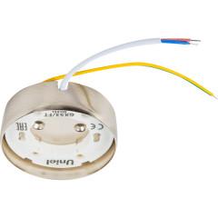 Светильник точечный накладой Uniel GX53 IP20 8.2 см Никель