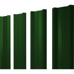 Штакетник М-образный А 0.45 PE RAL 6005 зеленый мох 2 м