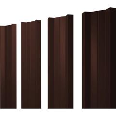 Штакетник М-образный А 0.45 PE RAL 8017 шоколад 2 м