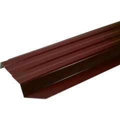 Штакетник П-образный А 0.45 PE RAL 3005 красное вино 2 м
