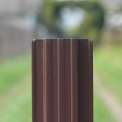 Штакетник П-образный А 0.45 PE RAL 8017 шоколад 2 м