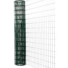 Сетка сварная Каскад оцинкованная ПВХ 60х100 мм 1.8х15 м зеленая