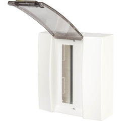 Бокс настенный ABB Mistral41 1SPE007717F9992 12М прозрачная дверь с клеммами