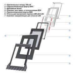 Оклад пароизоляционный Velux BBX алюминий 78х140 см