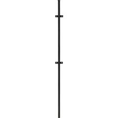 Столб Каскад с ушами 40 мм 2.3 м черный