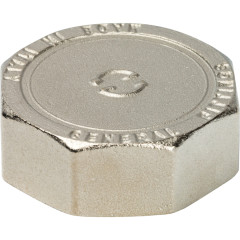 """Заглушка никелированная Stout SFT-0027-000012 1/2"""" внутренняя резьба"""