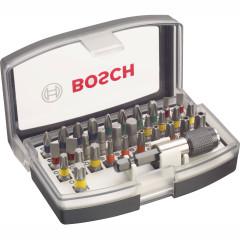 Набор бит Bosch 32 предмета  биты+держатель
