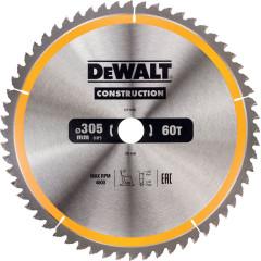 Диск пильный Dewalt по дереву 305x30 мм 60 зубьев
