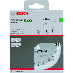 Диск пильный Bosch Optiline Wood 85х15 мм 20 зубьев