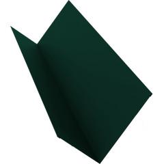 Планка примыкания для мягкой кровли Grand Line 20x45x15x10 мм 0.45 мм PE с пленкой RAL 6005 зеленый мох 2 м