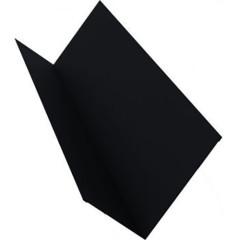 Планка примыкания для мягкой кровли Grand Line 20x45x15x10 мм 0.45 мм PE с пленкой RAL 9005 черная 2 м