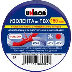Изолента Unibob ПВХ 150 мкм 19 мм x 20 м синяя