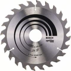 Диск пильный Bosch Optiline Wood 165х30 мм 24 зуба