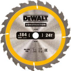 Диск пильный Dewalt по дереву 184x16 мм 24 зуба