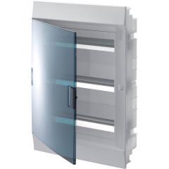 Бокс в нишу ABB Mistral41 54 модулей c клеммами прозрачная дверь IP41 600x430x128 мм белый
