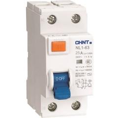 Устройство защитного отключения Chint NL1-63 6kA 2P 25A 30mA тип AC (DB)